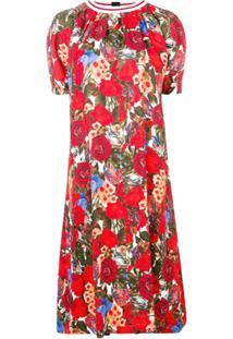 Marni Vestido Com Estampa Floral - Vermelho