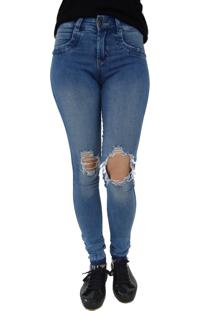 Calça Jeans Aero Jeans Skinny Destroyed Azul