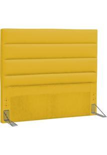 Cabeceira Casal Queen Greta 160 Cm Corino Amarelo - D'Monegatto
