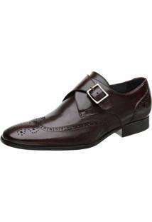 Sapato Malbork Monk Oxford Marrom