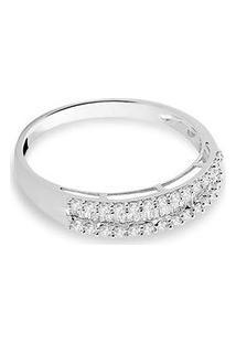 Anel Ouro Branco E Diamante