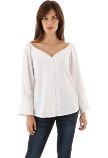 Camisa Aha Decote E Ombro Em V Branco