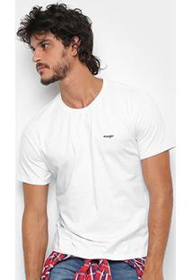 Camiseta Wrangler Básica Bordada Logo Masculina - Masculino