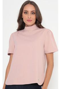 Blusa Texturizada Com Pedrarias- Rosa Claro- Ennaenna