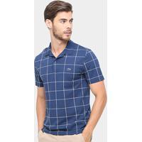 Camisa Polo Lacoste Piquet Xadrez Regular Fit Masculina - Masculino-Marinho 2fe087f294