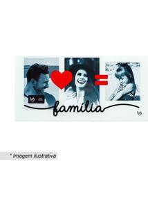 """Porta Retrato Triplo """"Família""""- Branco & Vermelho- 1Ludi"""