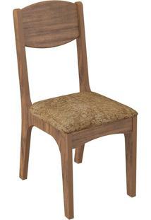 Cadeira Ca12 Chenille Marrom Nobre Fosco