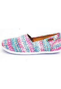 Alpargata Quality Shoes 001 Étnico Rosa - Tricae