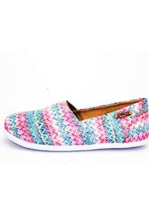 Alpargata Quality Shoes 001 Étnico Rosa