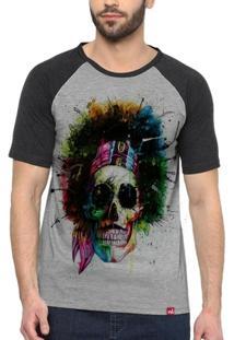 Camiseta Raglan Caveira Jimmy - Masculino