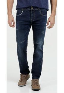 Calça Masculina Jeans Puídos Slim Sawary