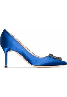Manolo Blahnik Scarpin Hangisi 70 - Azul