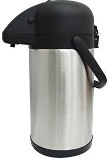 Garrafa Térmica 2.5 Litros Aço Inox Preta Bon Gourmet