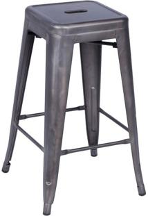 Banqueta Retrô- Cinza- 68X41,5X41Cm- Or Designor Design