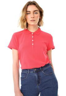 Camisa Polo Gap Reta Lisa Rosa