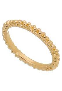 Anel Texturizado Banhado A Ouro- Dourado- 6X0,3Cm
