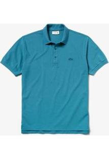 Camisa Polo Lacoste L.12.12 Original Fit Masculina - Masculino-Azul