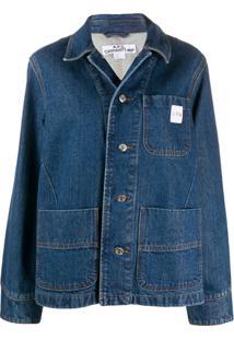 A.P.C. Jaqueta Jeans Oversized - Azul