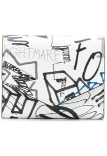 Maison Margiela Carteira Com Estampa De Grafite - Branco