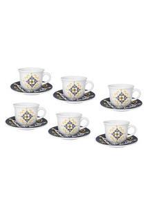 Jogo De 6 Xícaras Chá 200Ml Com Pires 019752 Oxford