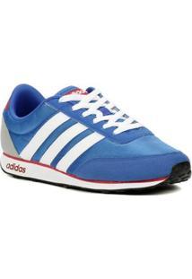 Tênis Casual Esportivo Masculino Adidas Racer Azul/Branco/Vermelho