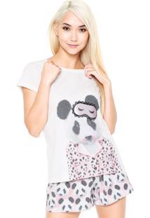 Pijama Pzama Paris Panda Bege