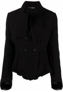 Dolce & Gabbana Jaqueta Com Abotoamento Duplo De Tricô - Preto