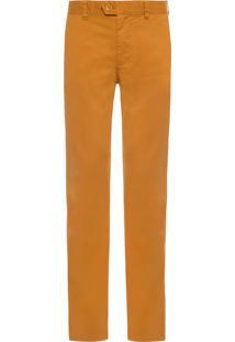 Calça Masculina De Sarja - Amarelo