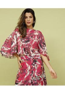 Blusa Com Seda & Tag- Rosa & Branca- Mos Beach Wearmos Beach Wear