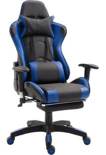 Cadeira Gamer T One Preta E Azul