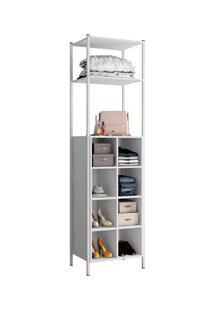 Guarda Roupa Closet Com Prateleiras 540C Oxford Branco - Artefamol