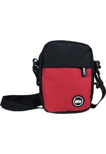 Mini Bolsa Lateral Chronic Shoulder Bag Frente E Verso Preto - Preto - Masculino - Dafiti