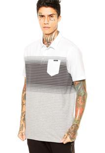 Camisa Polo Oakley Fade 2.0 Branca