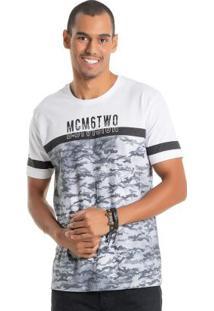 Camiseta Com Estampa Relevo Branco Bgo