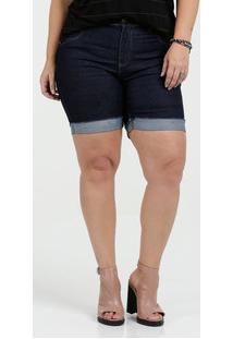 Bermuda Feminina Jeans Stretch Plus Size Mix Jeans