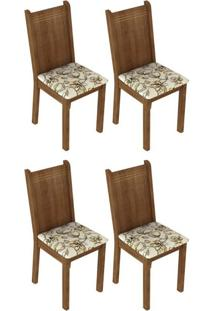 Kit 4 Cadeiras Rustic Lírio Bege Madesa4290