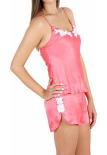 Pijama Luxus Pijamas Shortdoll Sedinha Rosa