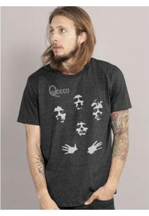 T-Shirt Bandup Premium Queen Ii Capa - Masculino-Mescla Escuro