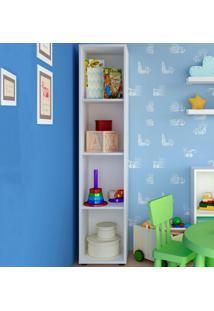 Estante Para Livros Clean 3 Prateleiras Branco - Artany