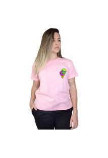 Camiseta Boutique Judith Ice Alien Rosa