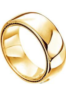 Aliança De Casamento Masculina Em Ouro 18K 750 Wm Joias 7Mm M2944 - Masculino-Dourado
