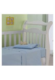 Jogo De Lençol Infantil Plumasul Classic Baby 3 Peças Sianinha Azul