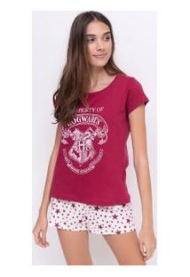Pijama Com Estampa Harry Potter