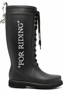 Off-White Galocha For Riding - Preto