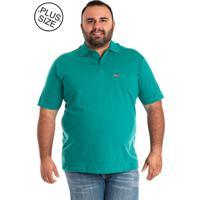 Camisa Pólo Plus Size Verde masculina  746cd690fa9d7