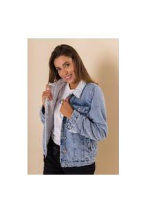 Jaqueta Jeans Forrada Nubia