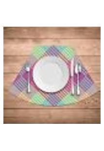 Jogo Americano Para Mesa Redonda Wevans Colorfull Geométric Kit Com 4 Pçs