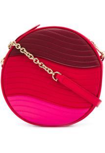 Furla Bolsa Transversal Swimg Color Block - Vermelho