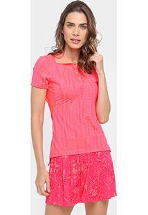 Camiseta Polo Asics Tennis Racer Feminina - Feminino-Pink