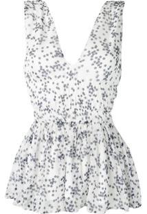 P.A.R.O.S.H. Blusa Com Estampa De Estrela - Branco
